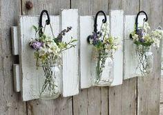 Beautiful Spring Refresh In Your Garden <<< Hanging Mason Jars >>>