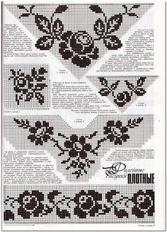 filet crochet neckline