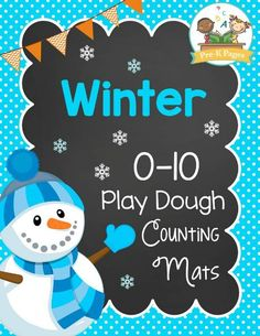 Free winter play dough mats to help your kids develop number sense and fluency within ten.