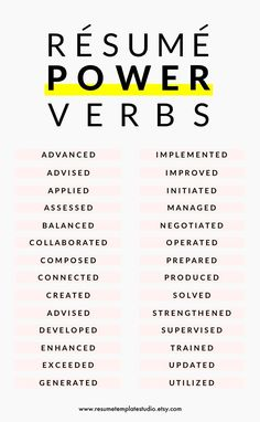 Resume power verbs and Resume tips to boost your Resume Career Goals - Goal Quotes
