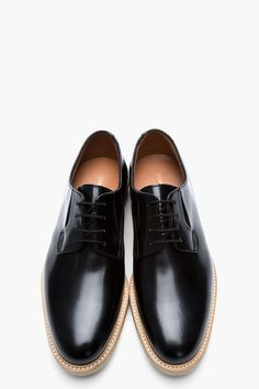 COMMON PROJECTS Black Shine Leather Derbys