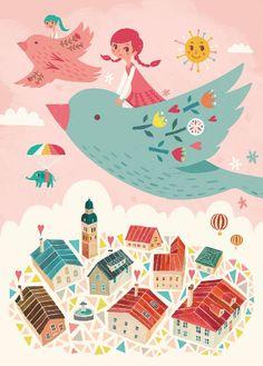 Petite Louise Petite Louise poster A4 Bird Ride