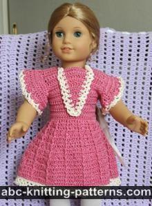 American Girl Doll Crochet Summer Dress  free crochet pattern