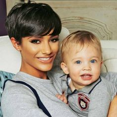 Frankie Bridge and her son Parker