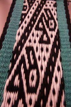 Telar andino Andean pebble weave