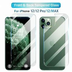 iPhone Screen Protector Front and Back 9H Tempered Glass SE-2020,12Mini/Pro/Max #Apple