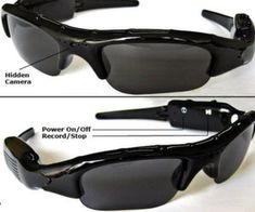 Spy Camcorder Glasses $16.95 from Amazon. These glasses are perfect for the freelance spy who is on a budget. 2 GB internal memory, allows up to 5 hours of video recording. Memory slot for extended memory. Charge via USB. Endorsed by the KGB! (not really) - See more at: http://shityoucanafford.com