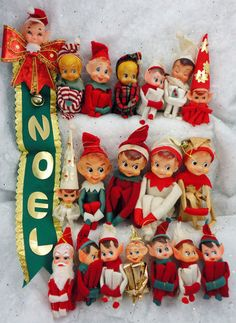 19 Vintage Knee Huggers Elves | I have the one in the red at the top next to the stripes.