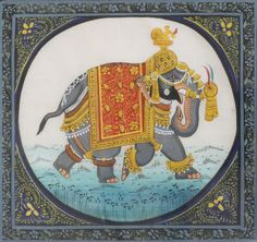 Indian Elephant - Miniature Painting by Rowan Castle on Flickr