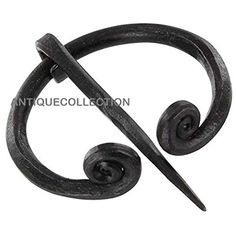 ANTIQUECOLLECTION Penannular Hand Forged Iron Brooch With... Https://www.