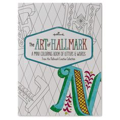 The Art Of Hallmark A Mini Coloring Book Letters Words