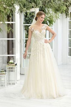 TO-854T - The One 2019 - Wedding dresses - Agnes - lace wedding dresses, Plus Size Bridal Gowns Most Beautiful Wedding Dresses, Bridal Salon, Our Wedding, Lace Wedding, Wedding Accessories, Bridal Gowns, White Dress, Plus Size, Model