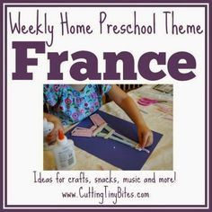 France Theme Weekly Home Preschool. Crafts, snacks, music, field trip, picture books, and more! Perfect amount of activities for one week of EASY homeschool pre-k. France Craft, Preschool Themes, Preschool At Home, Preschool Lessons, Preschool Crafts, Food Crafts, Montessori, Learning Games, Early Learning, Activities, Preschool Rooms, Learning French, Creativity