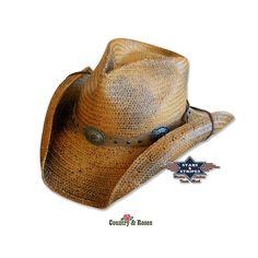 Sombrero estilo western Red Rock. Un sombrero de paja color arena muy  ligero para los f4909462514