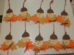 levélmanók Autumn Nature, Nature Crafts, Autumn Theme, Relax, Trees, Clip Art, Activities, Halloween, Fall
