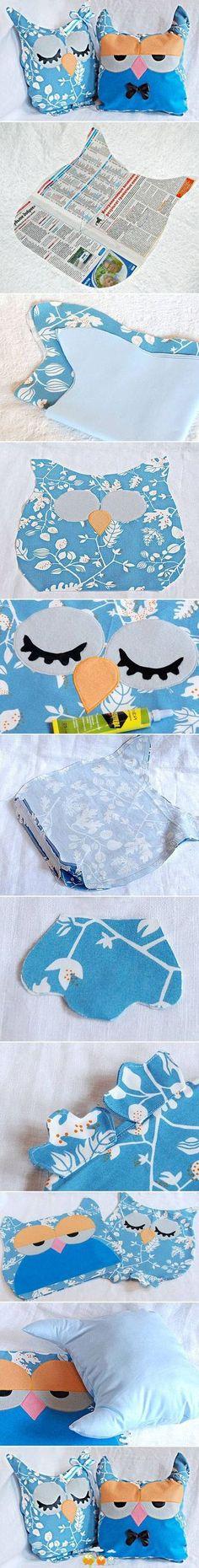 DIY Owl Cushion