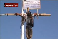 Top 10 Modern Crucifixions (Contains Graphic Images) - From January through May 2012, a militant group, Ansar al-Shari'a, controlled part of southern Yemen. Amnesty International documented the al-Qa'ida affiliate's human-rights abuses – including public executions, flogging, chopping off hands and the crucifixion of an executed man.