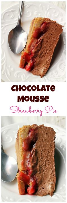 Chocolate-covered strawberries are so last year now that this chocolate mousse-covered strawberry pie is in town!