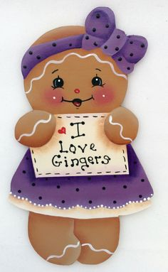 HP GINGERBREAD FRIDGE MAGNET i love gingers