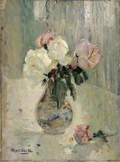 Roses in a vase, Maurits Niekerk. Dutch (1871 - 1940)