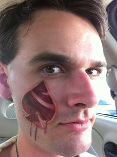 Tons of cool and/or scary face paint and body paint ideas, lots to look at on this site.