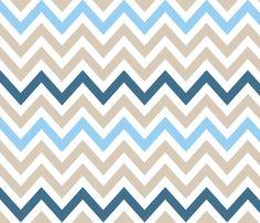 Beach Chevron fabric by fable_design on Spoonflower - custom fabric