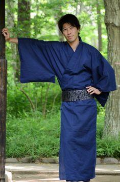 Nick would look so handsome in this!  Yukata kimono Market sakura / Yukata kimono for men
