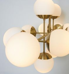 Globes of blown glass - The metal parts of the luminaire are made of iron and steel or brass and are all lacquered Ceiling Lamp, Ceiling Lights, Track Lighting, Sweden, Lord, Table Lamp, Metal, Crafts, Blown Glass