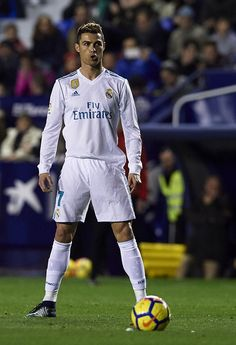 Cristiano Ronaldo Of Real Madrid Reacts During The La Liga Match Between Levante And Real Madrid