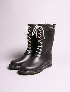 Iconic Scandinavian design Ilse Jacobsen boots from Denmark