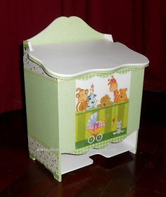pañalera Baby Shawer, Baby Birth, Decoupage, Kit Bebe, Pintura Country, Country Paintings, Ideas Para, Toy Chest, Storage Chest