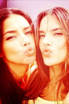 Victoria's Secret angels (and supermodel lookalikes) Adriana Lima and Alessandra Ambrosio did what they do best on March 7.