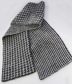 Another reason to learn how to double knit. Man's Double Knit scarf (DK136) by Melissa Leapman.