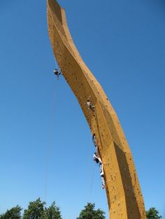 WOW! You're looking at the world's highest man-made climbing wall. Found in the Netherlands.