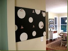 Peg board idea for the kids play room