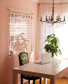 This huge wall calendar by DareToBeDomestic on etsy.com adds beauty and function to your home or office. Made of Lucite and brass. Lets get organized.