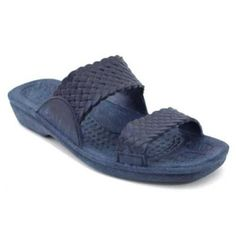 Pali Hawaii Women's PH 406 Slide Sandal-Navy Blue-Size 5