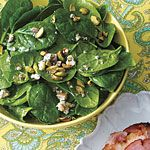 Baby Spinach Salad with Blue Cheese Recipe | MyRecipes.com