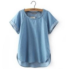 Item Type: Tops Tops Type: Tees Gender: Women Decoration: None Clothing Length: Regular Sleeve Style: Regular Pattern Type: Solid Brand Name: Tshirts woman Style: Fashion Fabric Type: Denim Material: