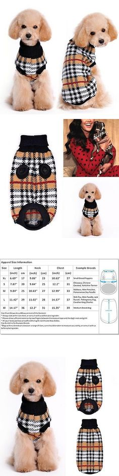 Cute Animals And Animals Stuff: Small Dog Clothes Pet Winter Sweater Knitwear Puppy Clothing Warm Apparel Coat -> BUY IT NOW ONLY: $11.08 on eBay!