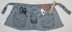 Amethistle: Creativity for the Fun of It!: Recycling More Jeans -- Work Apron