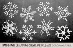Satz von 8 handgezeichnete mit Kreide Schneeflocken. Sie erhalten ein zwei Sätze von Png-Dateien, eine Gruppe von weißen Schneeflocken auf transparentem Hintergrund und eine Reihe von schwarzen kreidig Schneeflocken auf transparentem Hintergrund für Sie keinesfalls neu einfärben