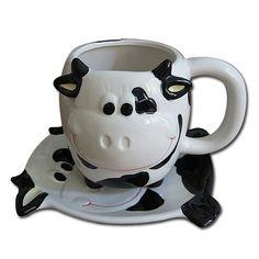 Cute Milch Cow Ceramic Cup Mug