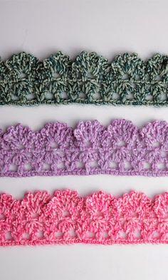 Free Crochet Patterns: Free Crochet Patterns: Borders and Edgings ༺✿Teresa Restegui http://www.pinterest.com/teretegui/✿༻