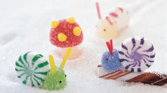Sprinkles on gumdrops and sweet gummy rings -- these are a few of kids' favorite things. It's easy to turn candy into lively decorations.