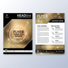 Business brochure design Free Vector