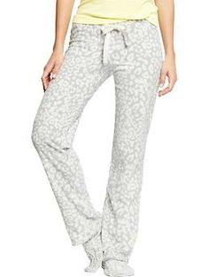 Women's Printed Micro Performance Fleece PJ Pants   Old Navy