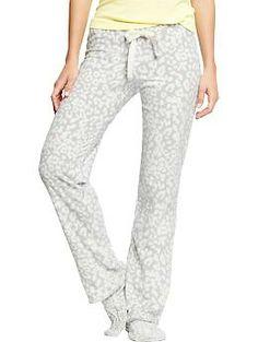 Women's Printed Micro Performance Fleece PJ Pants | Old Navy