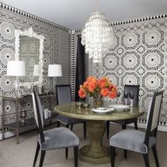 This bold dining room by Michael P Smyth has a maximum effect, but with minimal pieces - each chosen for impact.
