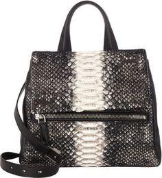 Givenchy Python Pandora Flap-Front Shoulder Bag